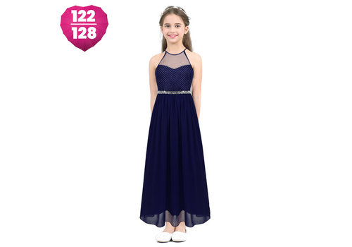 Communiejurk / Bruidsmeisjesjurk - Cloë - Donker Blauw - Maat 122/128