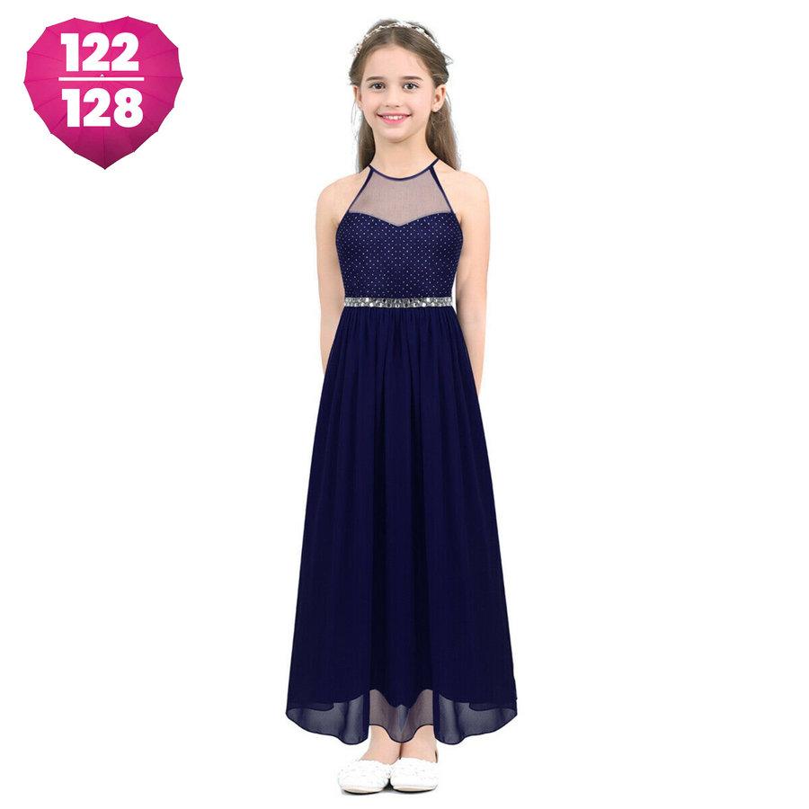 Communiejurk / Bruidsmeisjesjurk - Cloë - Donker Blauw - Maat 122/128-1