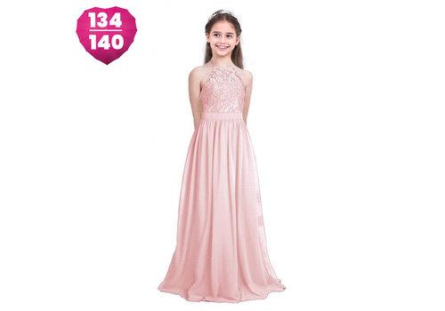 Communiejurk / Bruidsmeisjesjurk / Galajurk - Liny - Licht Roze - Maat 134/140