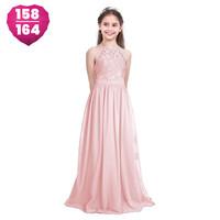thumb-PaCaZa - Communiejurk / Bruidsmeisjesjurk / Galajurk - Liny - Licht Roze - Maat 158/164-1