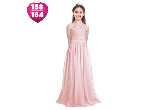 Communiejurk / Bruidsmeisjesjurk / Galajurk - Liny - Licht Roze - Maat 158/164