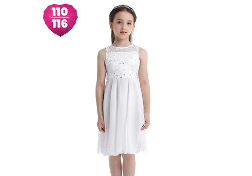 Communiejurk / Bruidsmeisjesjurk - Yuna - Off White - Maat 110/116