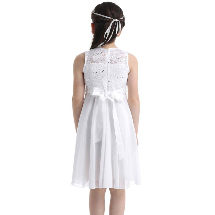 PaCaZa - Communiejurk / Bruidsmeisjesjurk - Yuna - Off White - Maat 110/116-2