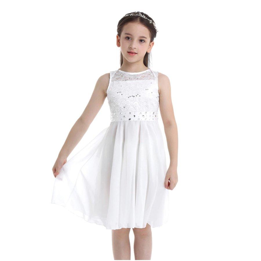 Communiejurk / Bruidsmeisjesjurk - Yuna - Off White - Maat 110/116-3