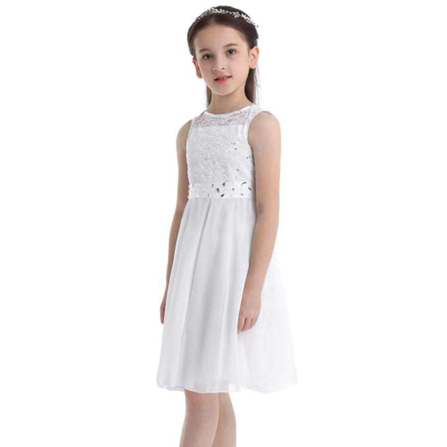 Communiejurk / Bruidsmeisjesjurk - Yuna - Off White - Maat 110/116-5