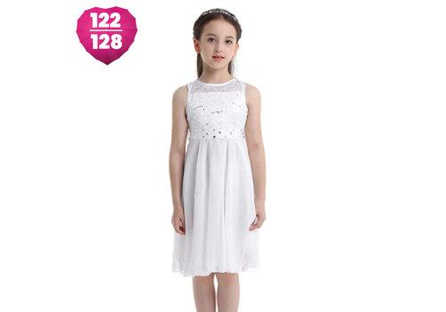 Communiejurk / Bruidsmeisjesjurk - Yuna - Off White - Maat 122/128