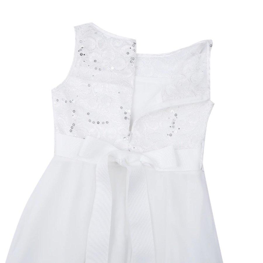 Communiejurk / Bruidsmeisjesjurk - Yuna - Off White - Maat 122/128-9