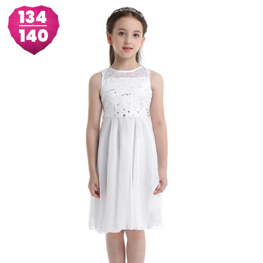 Communiejurk / Bruidsmeisjesjurk - Yuna - Off White - Maat 134/140-1