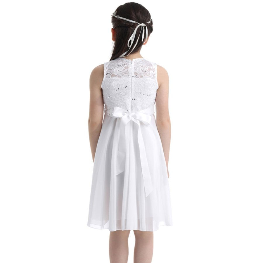 Communiejurk / Bruidsmeisjesjurk - Yuna - Off White - Maat 134/140-2