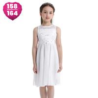 thumb-Communiejurk / Bruidsmeisjesjurk - Yuna - Off White - Maat 158/164-1