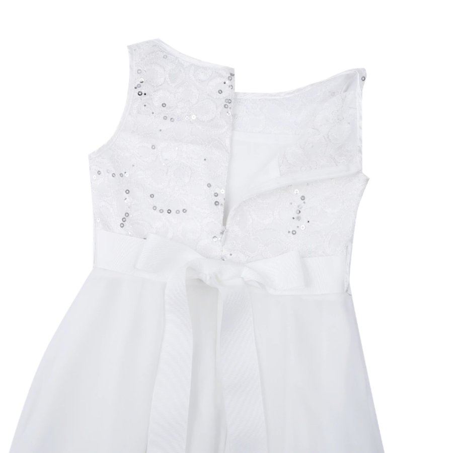 Communiejurk / Bruidsmeisjesjurk - Yuna - Off White - Maat 158/164-9
