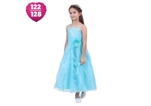 Communiejurk / Bruidsmeisjesjurk - Lucy - Blauw - Maat 122/128