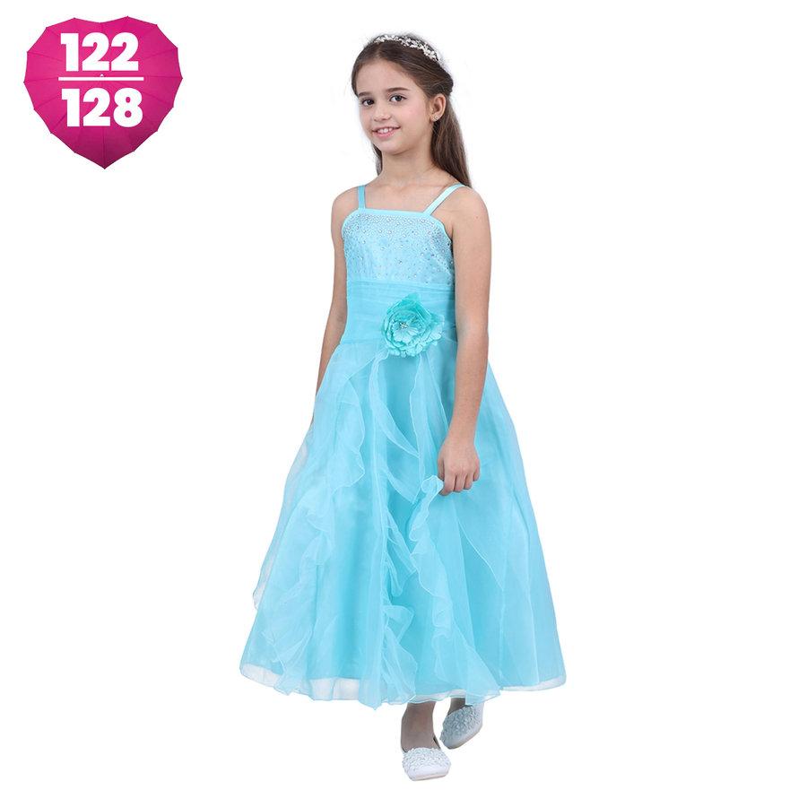 Communiejurk / Bruidsmeisjesjurk - Lucy - Blauw - Maat 122/128-1