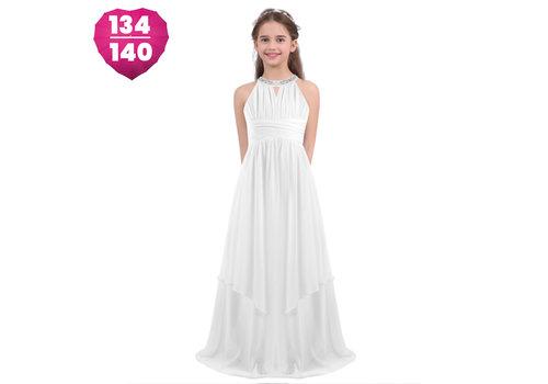 Communiejurk / Bruidsmeisjesjurk - Kari - Off White - Maat 134/140