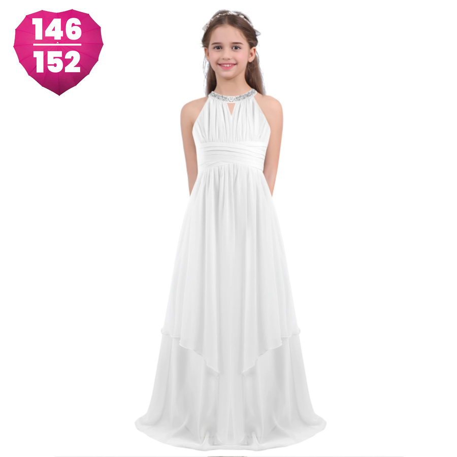 Communiejurk / Bruidsmeisjesjurk - Kari - Off White - Maat 146/152-1