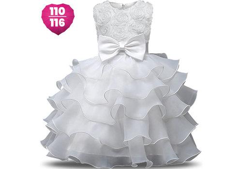 Communiejurk / Bruidsmeisjesjurk - Nala - Off White - Maat 110/116