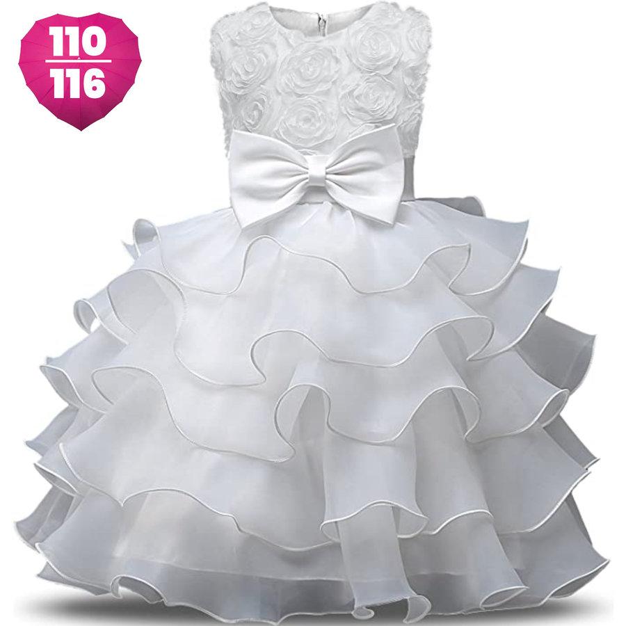 Communiejurk / Bruidsmeisjesjurk - Nala - Off White - Maat 110/116-1