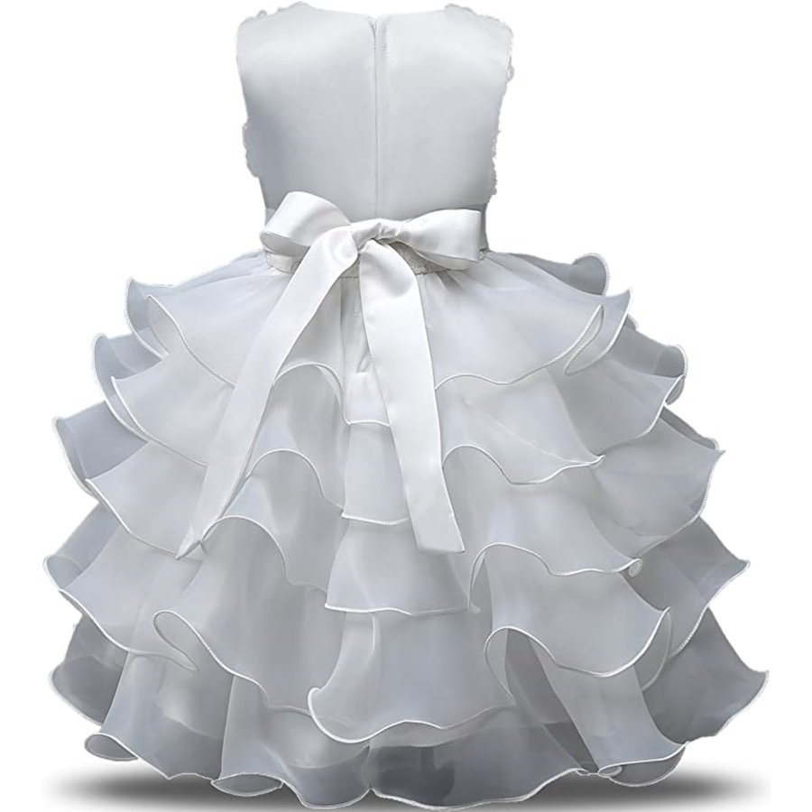 Communiejurk / Bruidsmeisjesjurk - Nala - Off White - Maat 110/116-2