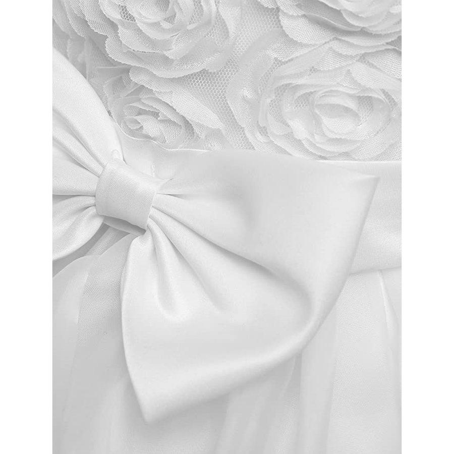 Communiejurk / Bruidsmeisjesjurk - Nala - Off White - Maat 110/116-5