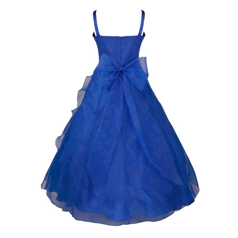 Communiejurk / Bruidsmeisjesjurk - Emily - Donker Blauw - Maat 98/104-2