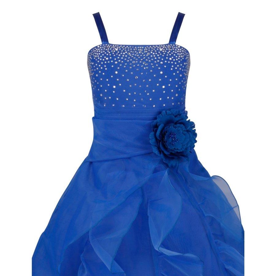 Communiejurk / Bruidsmeisjesjurk - Emily - Donker Blauw - Maat 98/104-3