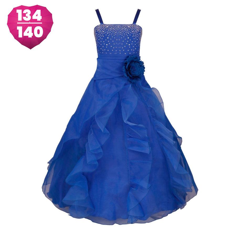 Communiejurk / Bruidsmeisjesjurk - Emily - Donker Blauw - Maat 134/140-1