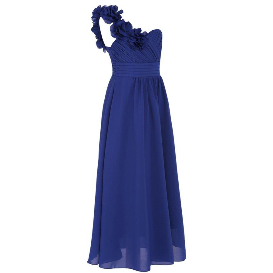 Communiejurk / Bruidsmeisjesjurk - Lola - Blauw - Maat 122/128-5