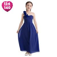 thumb-Communiejurk / Bruidsmeisjesjurk - Lola - Blauw - Maat 134/140-1