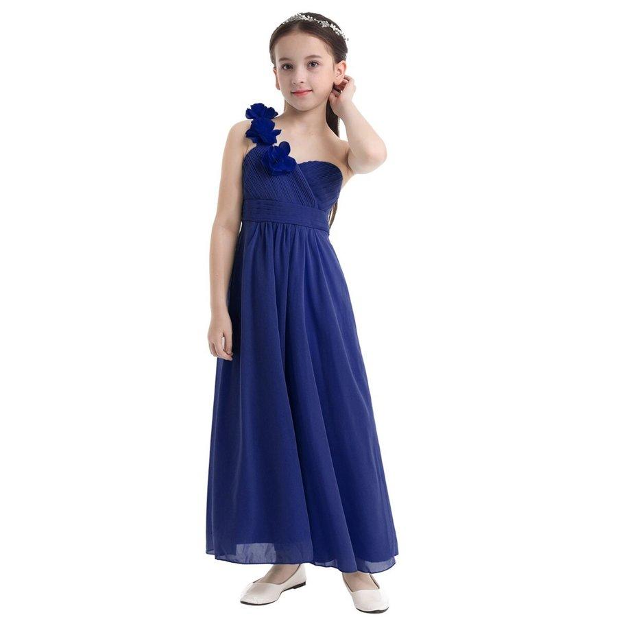 Communiejurk / Bruidsmeisjesjurk - Lola - Blauw - Maat 134/140-4