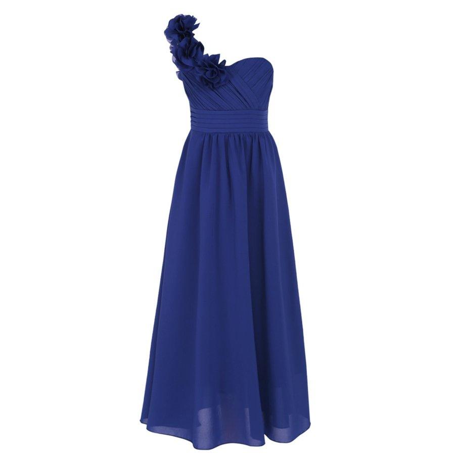 Communiejurk / Bruidsmeisjesjurk - Lola - Blauw - Maat 134/140-7