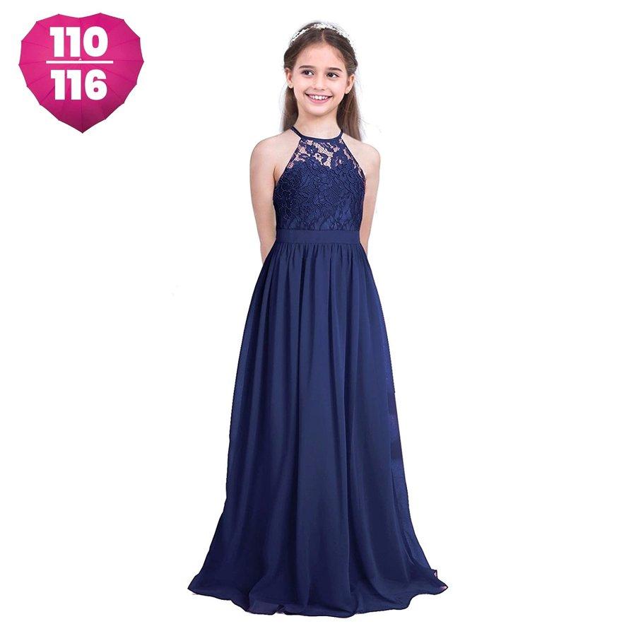Communiejurk / Bruidsmeisjesjurk / Galajurk - Lily - Donker Blauw - Maat 110/116-1