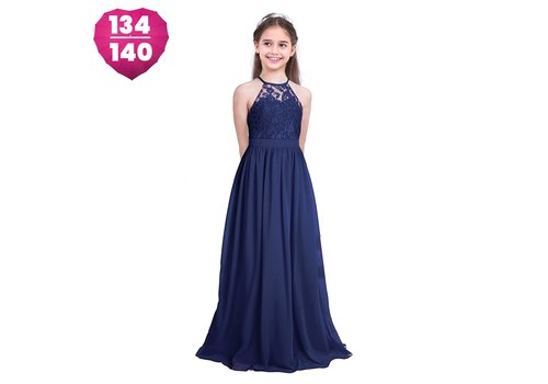 Communiejurk / Bruidsmeisjesjurk / Galajurk - Lily - Donker Blauw - Maat 134/140