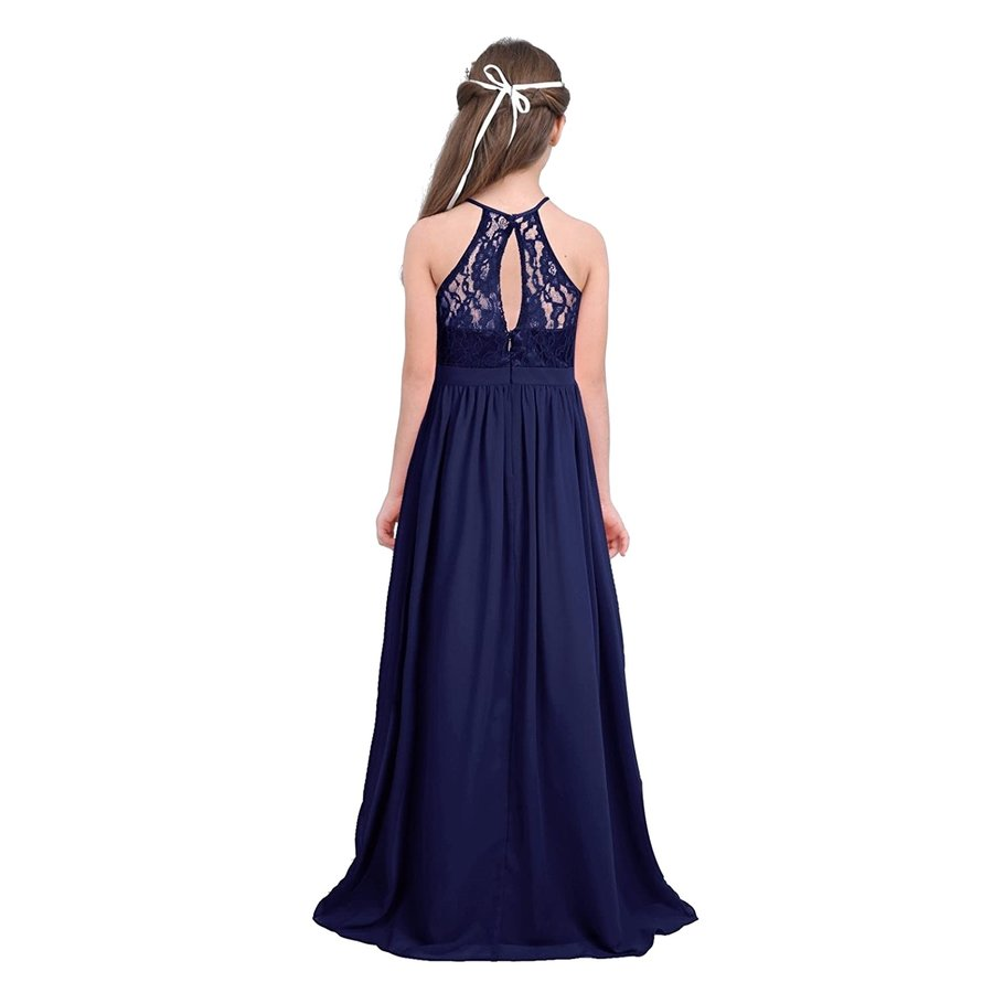 Communiejurk / Bruidsmeisjesjurk / Galajurk - Lily - Donker Blauw - Maat 110/116-2