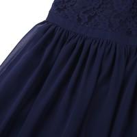 thumb-PaCaZa - Communiejurk / Bruidsmeisjesjurk / Galajurk - Lily - Donker Blauw - Maat 110/116-7
