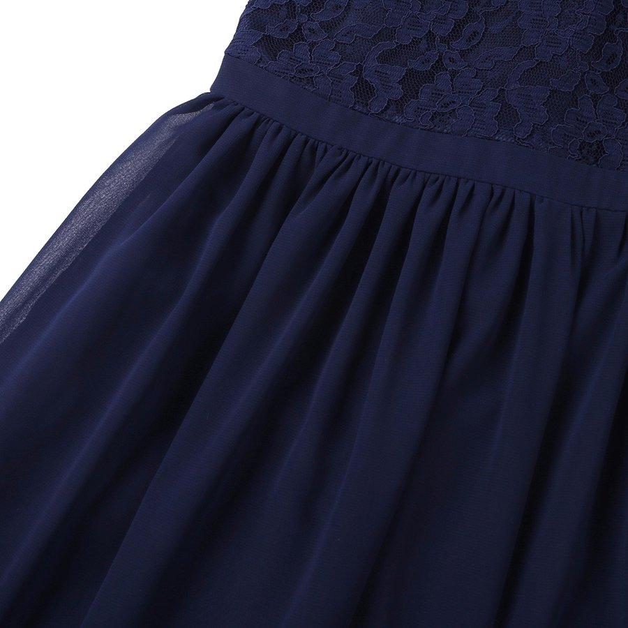 Communiejurk / Bruidsmeisjesjurk / Galajurk - Lily - Donker Blauw - Maat 110/116-7