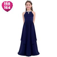 thumb-Communiejurk / Bruidsmeisjesjurk - Kensi - Donker Blauw - Maat 158/164-1