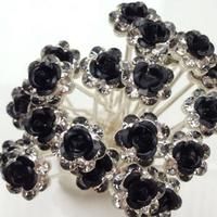 thumb-Hairpins – Zwart Roosje - 5 stuks-2