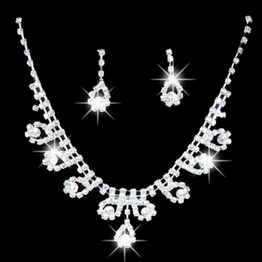 Sieradenset bewerkt met prachtige Kristallen-1