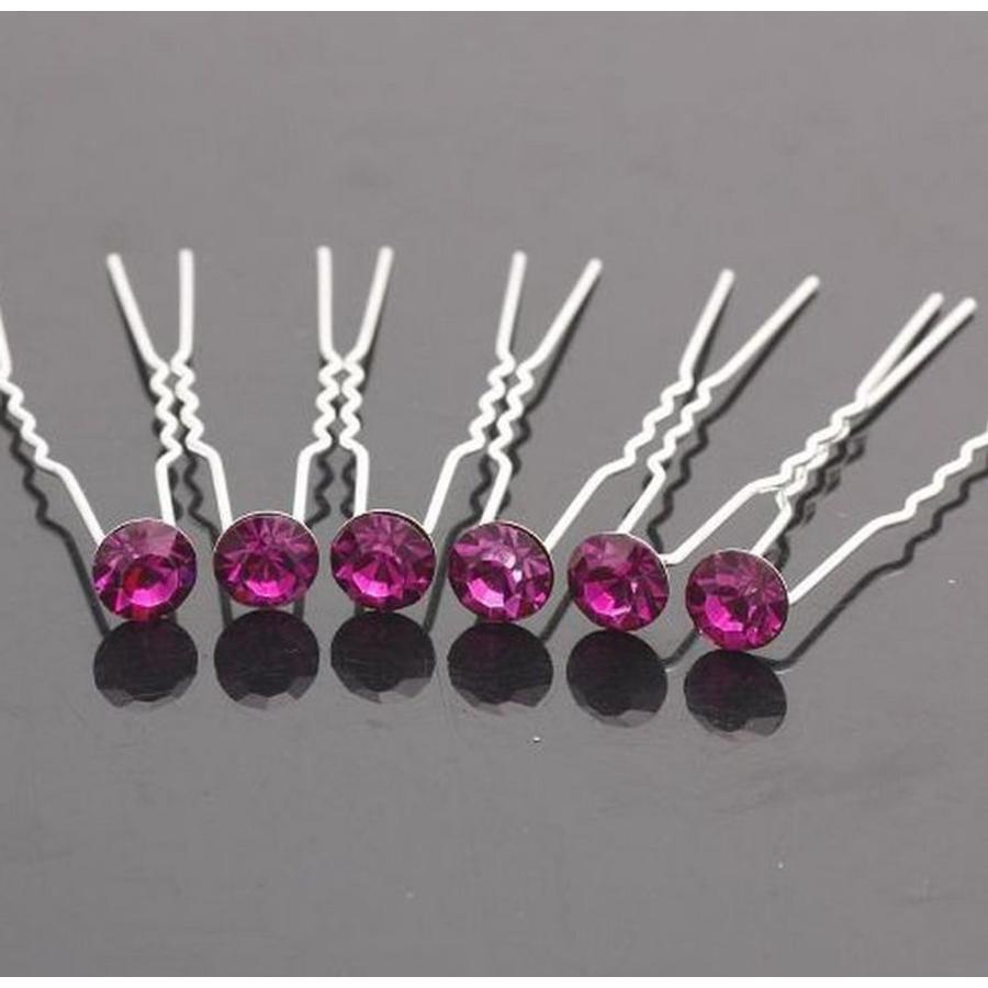 Hairpins – Paars / Roze - 5 stuks-1