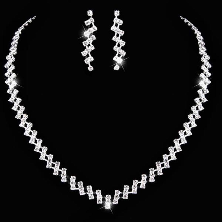 PaCaZa - Sieradenset Sparkling (Ketting & Oorbellen)-1