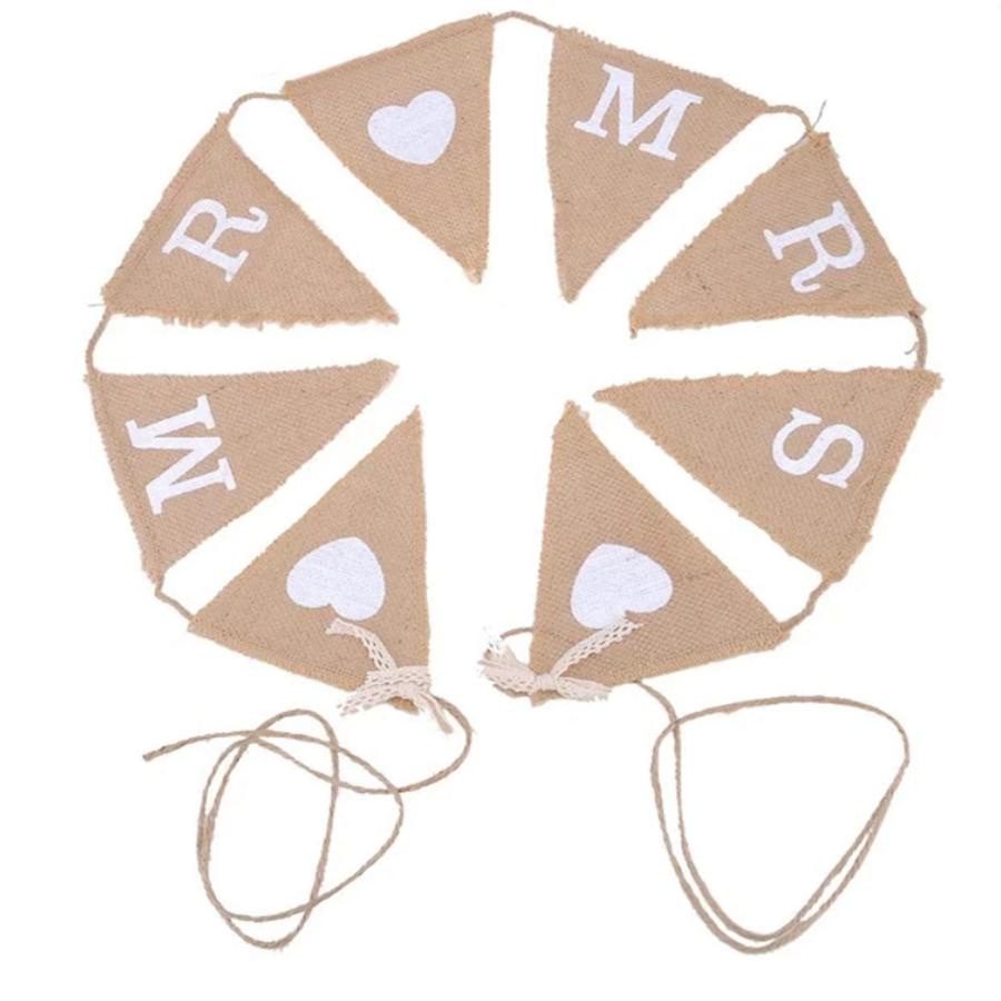 Mr & Mrs Jute Slinger - Bruiloft Decoratie-1