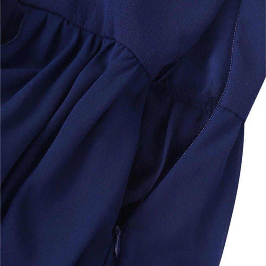 Communiejurk / Bruidsmeisjesjurk - Ruby - Donker Blauw - Maat 134/140-8