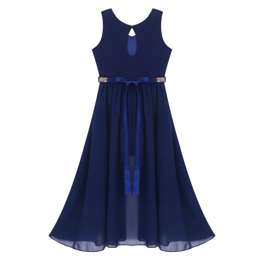Communiejurk / Bruidsmeisjesjurk - Ruby - Donker Blauw - Maat 146/152-6