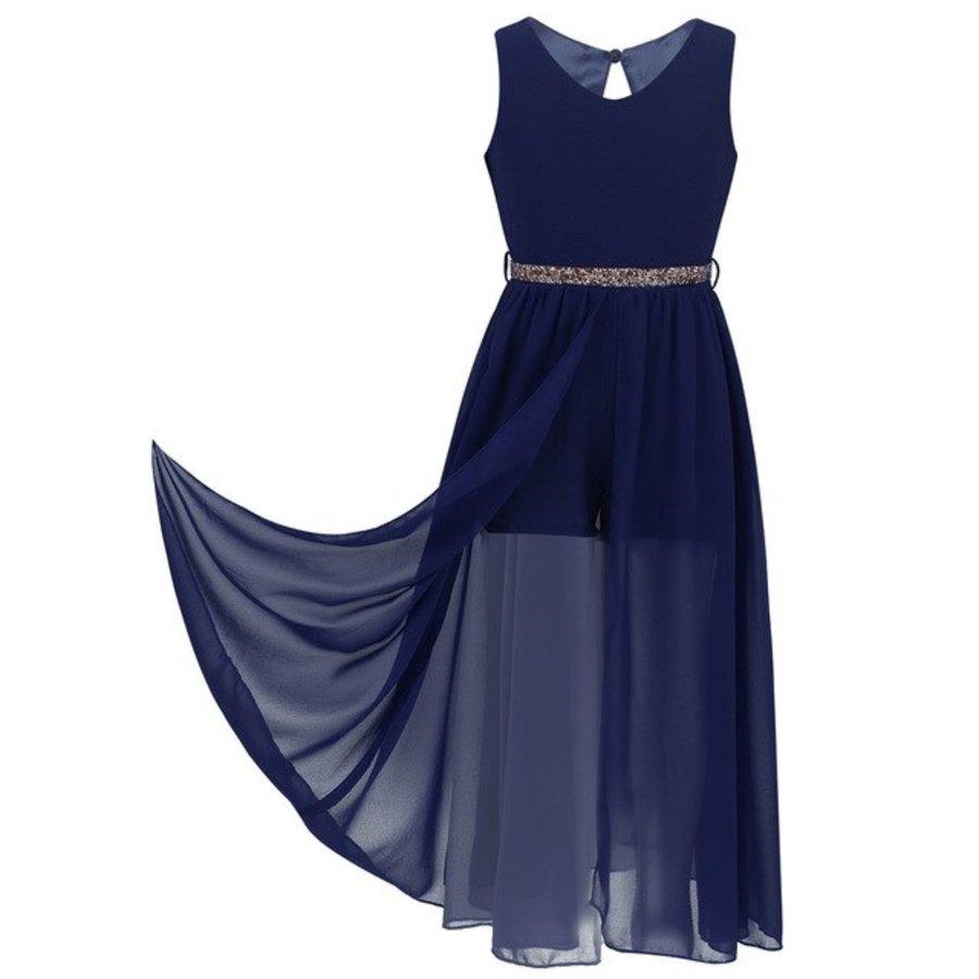 Communiejurk / Bruidsmeisjesjurk - Ruby - Donker Blauw - Maat 146/152-9