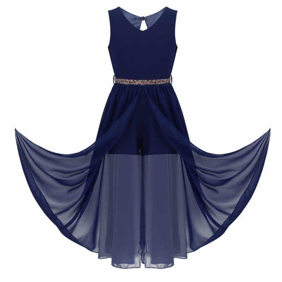 Communiejurk / Bruidsmeisjesjurk - Ruby - Donker Blauw - Maat 146/152-4