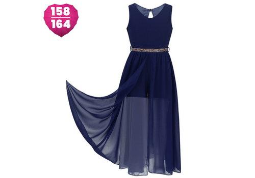 Communiejurk / Bruidsmeisjesjurk - Ruby - Donker Blauw - Maat 158/164