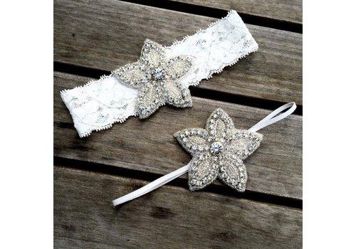 Haar Sieraad / Haarband - 2 stuks -  met Fonkelende Kristallen