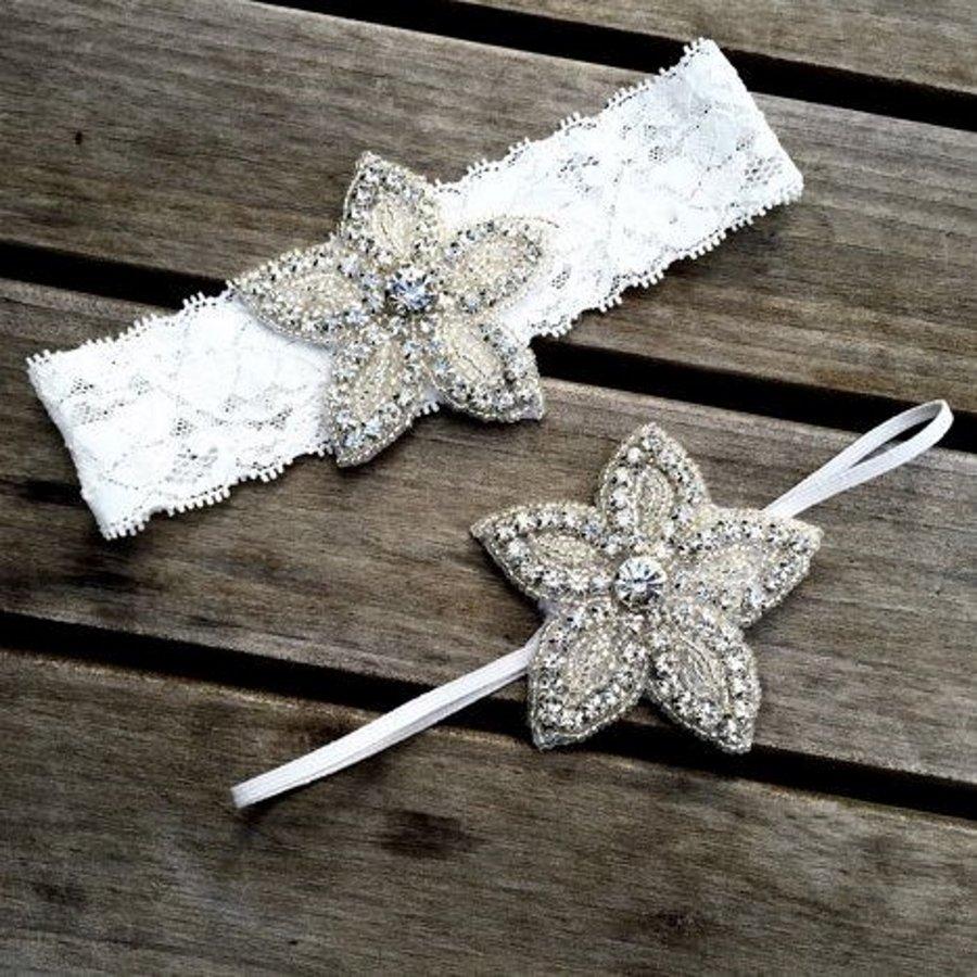 Haar Sieraad / Haarband - 2 stuks -  met Fonkelende Kristallen-1