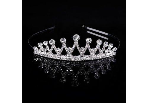 Chique Zilverkleurige Tiara / Kroon