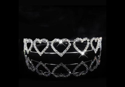 Tiara Heart met  Kristallen
